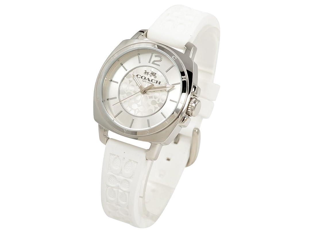 プレビュー介入する状態(コーチ) COACH 腕時計 ボーイフレンド 34mm レディース 腕時計 シルバー ホワイト ステンレススチール シリコンラバー 14502093 ブランド [並行輸入品]