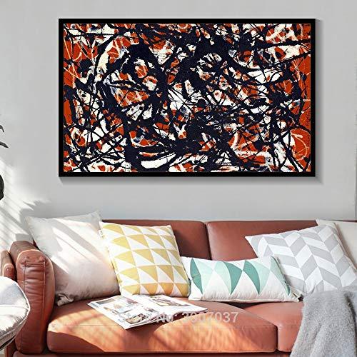 wZUN Pintura al óleo Abstracta Arte de la Pared Lienzo Pintura al óleo Color Arte Pintura Cuadro de la Pared 60x105 Sin Marco