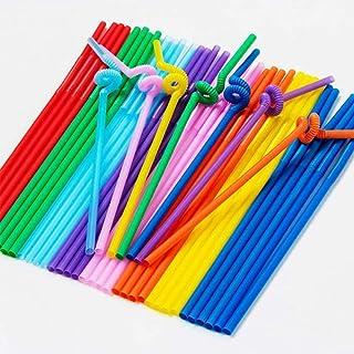 Fancy Plastic Straw 6mm Drinking Straws Colorful, Flexible Bendy Party Fancy Straws, Colorful Flexible Drinking Straws, Di...