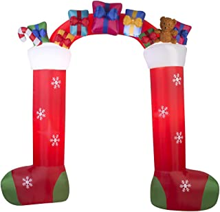 9.5 ft. H Inflatable Outdoor Christmas Stockings with Gifts Archway