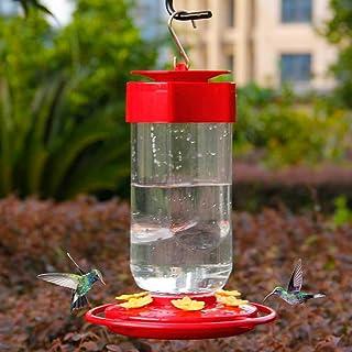Shrdaepe 30 oz. Hummingbird Feeder, Big Bottle Bird Feeders, 8 Feeding Stations, Red