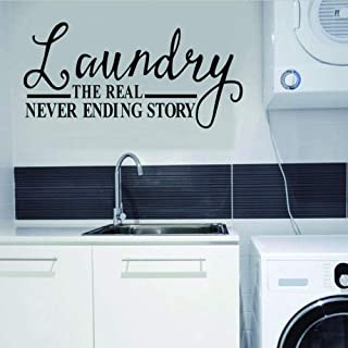 Laundry Loads Of Fun Clothes Line Laundry Room Vinyl Wall Decal Wall Decor 8 X24