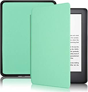 Capa Kindle 10ª geração com iluminação embutida – Função Liga/Desliga - Fechamento magnético - Cores (Verde Menta)