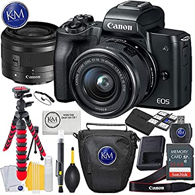 Canon EOS M50 Mirrorless Camera w/15-45mm (Black) + 32GB + Essential Photo Bundle from Canon