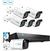 Reolink H.265 4K PoE Security Camera System, 6pcs 8MP Wired PoE IP Cameras with Audio Recording, 8CH NVR Recorder with 2TB HDD, Home Business Surveillance Outdoor/Indoor with 100ft Night Vision