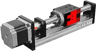FUYU FSL40 Linear Guide Slide Table Ball Screw Motion Rail CNC Linear Guide Stage Actuator Motorized Nema 23 Stepper Motor[50mm Stroke]