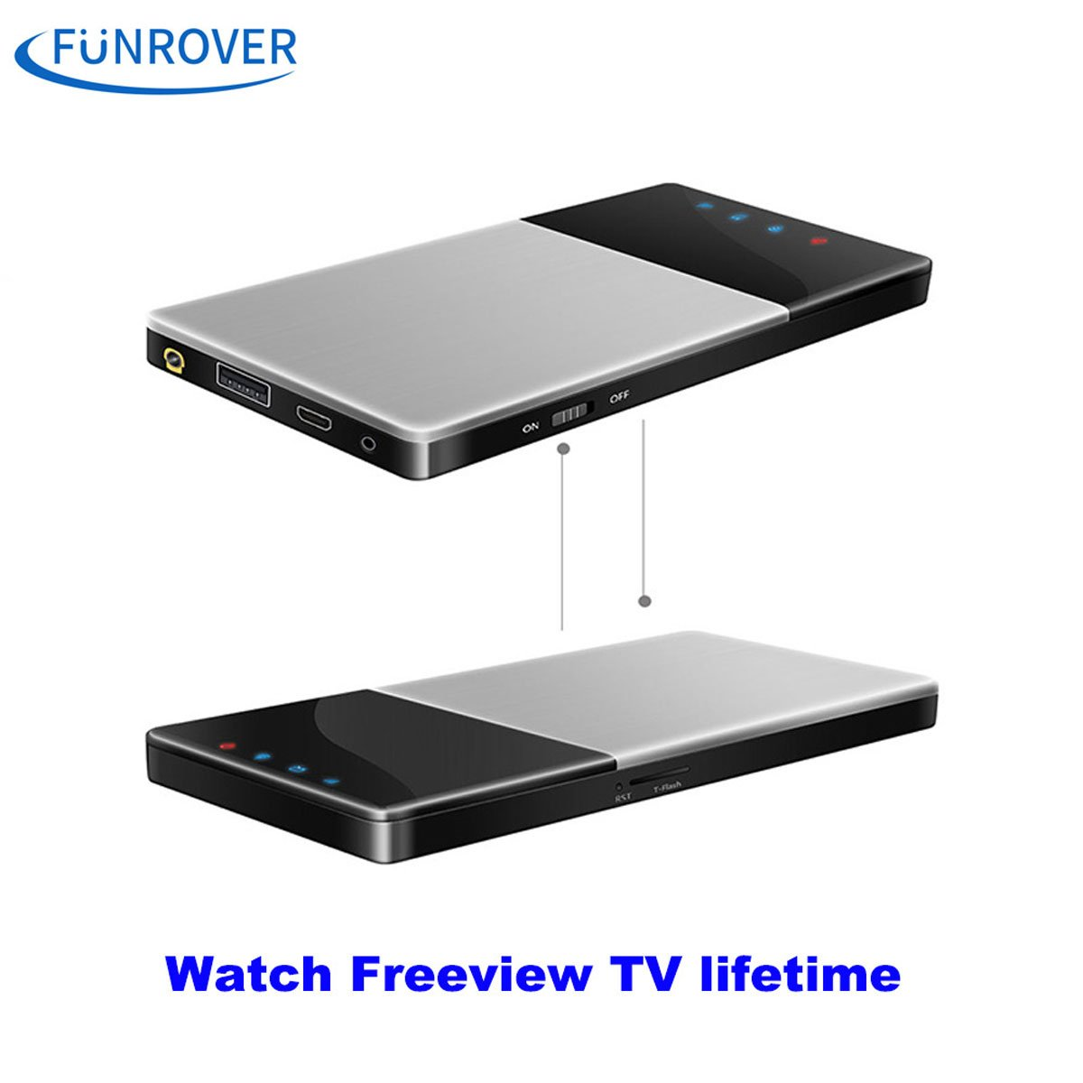 funrover WiFi TV Box DVB-T/T2 TV Digital HD para el coche/Home/al aire libre portátil IOS 10 Android 5.1 estéreo de radio de coche sintonizador de TDT Receptor con Antena: Amazon.es: Electrónica