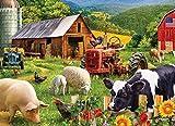 HRUIO 3D Holz-Puzzle 1000 Stück Timo BauernhofPuzzles Adult Children Brain Challenge EducationalWooden Jigsaw Puzzle Stressfreisetzung The Best Gift for Mother's Day-75x50cm