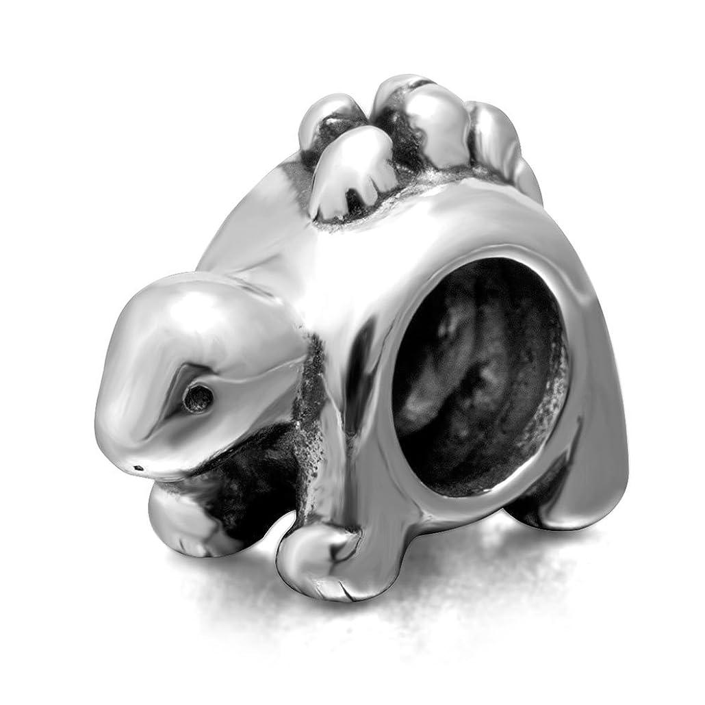 Dinosaur Charm - 925 Sterling Silver Charm - Animal Charm Fit Pandora Charm Bracelet (F)