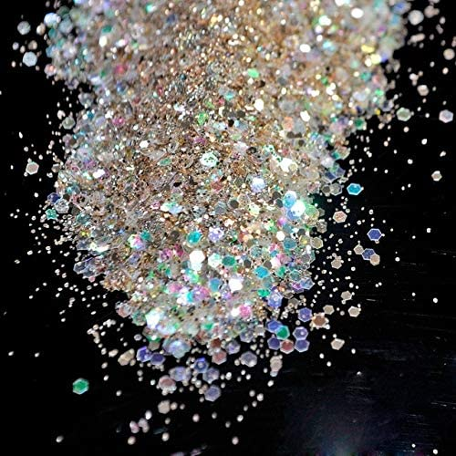 Gabcus Clear Light Gold Mix Shinny Nail Hexagon Glitter Max 61% OFF Sparkly Brand new