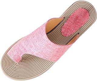 SUNyongsh Summer Womens Fashion Rope Flats Beach Slippers Open Toe Sandals Roman Sandals