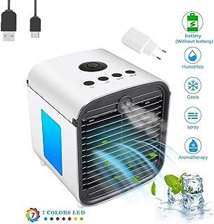 comprar comparacion Nifogo Aire Acondicionado, Aire Refrigerador, Portatil Climatizador Evaporativo, 3-en-1 Mini Ventilador Humidificador Puri...