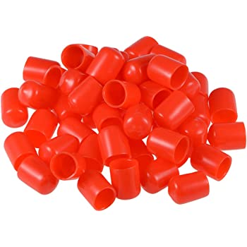 Uxcell Screw Thread Protectors 16mm Id Rubber Round End Cap Cover Red Tube Caps 20pcs Amazon Com