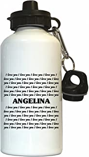 I Love You Angelina Water Bottle White