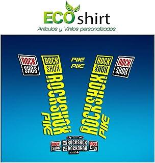 Ecoshirt X0-M6B4-OX2G Stickers Fork Rock Shox Pike 2018 Am177 Aufkleber Decals Autocollants Adesivi Forcela, Yellow