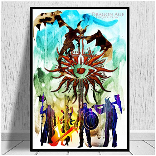 ZQXXX Dragon Age 3 Inquisition Game Art Poster lienzo pintura pared imagen abstracta decoración del hogar carteles e impresiones -50x75cm sin marco