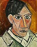 WallBuddy Peinture Picasso autoportrait 1907 Pablo Picasso Dessin Picasso Impression artistique Picasso Poster Cubisme Art (30 cm x 40 cm)