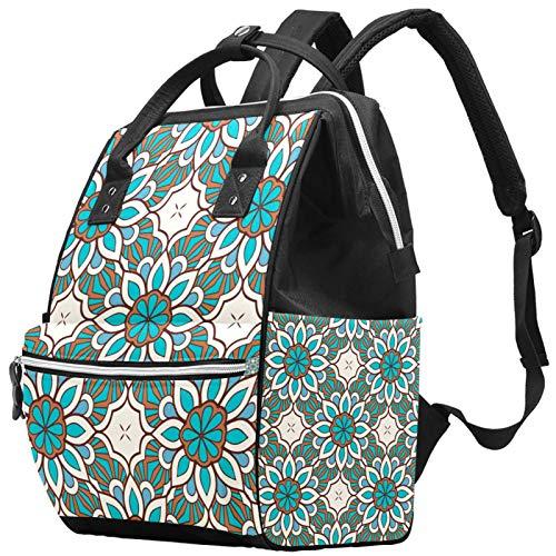 Mochila vintage étnica bohemia floral para ordenador portátil, 14 pulgadas, elegante mochila escolar de viaje y trabajo