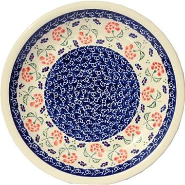 Polish Pottery Plate 9.5 Inch Diameter From Zaklady Ceramiczne Boleslawiec #1001-963 Classic Pattern