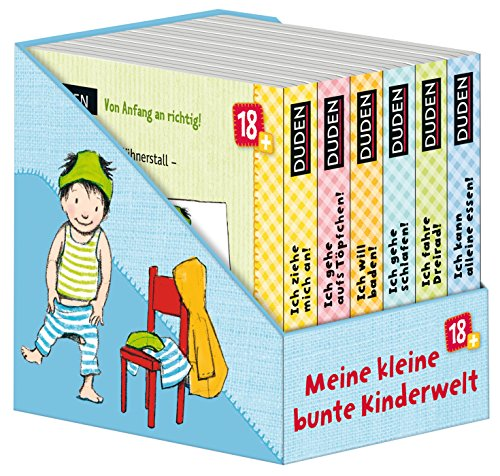 Duden 18+: Meine kleine bunte Kinderwelt (Würfel): 6 Mini-Bücher (Pappbilderbuch Bücher-Würfel, Band 5)