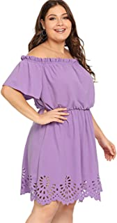 casual purple dress plus size