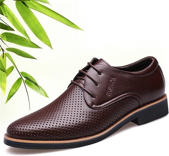 Hommes Chaussures Microfibre 2018 printemps été confort chaussures de marche à lacets pour Casual noir brun travail formel d'affaires GLSHI