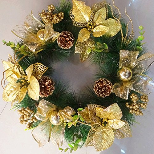 Learn More About LAOHAO Christmas Wreath Christmas Decoration Christmas Ornaments Gold 40CM one-time...