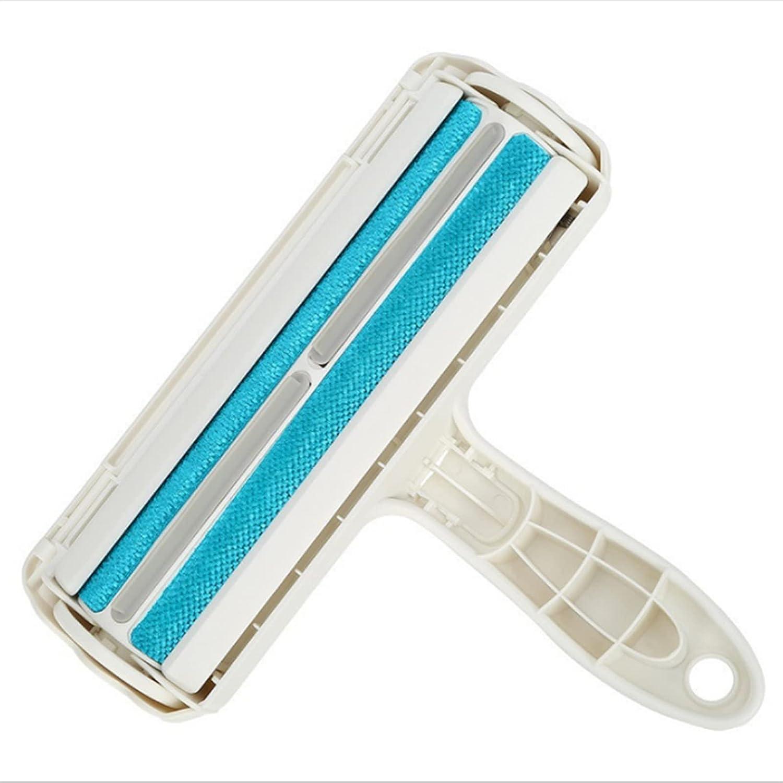 JRKJ Cepillo para perros, cepillo para gatos y animales domésticos para eliminar pelos de perros, lavable y reutilizable. Cepillo para quitar la piel de la cama, alfombras y sofás (azul)