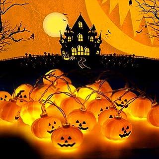 Halloween Pumpkin String Lights, LED Pumpkin Lights Waterproof Halloween String Lights 2 Modes Steady/Flash Holiday Lights for Patio Garden Gate Halloween Outdoor Decor (20 One Pumpkin Lights)
