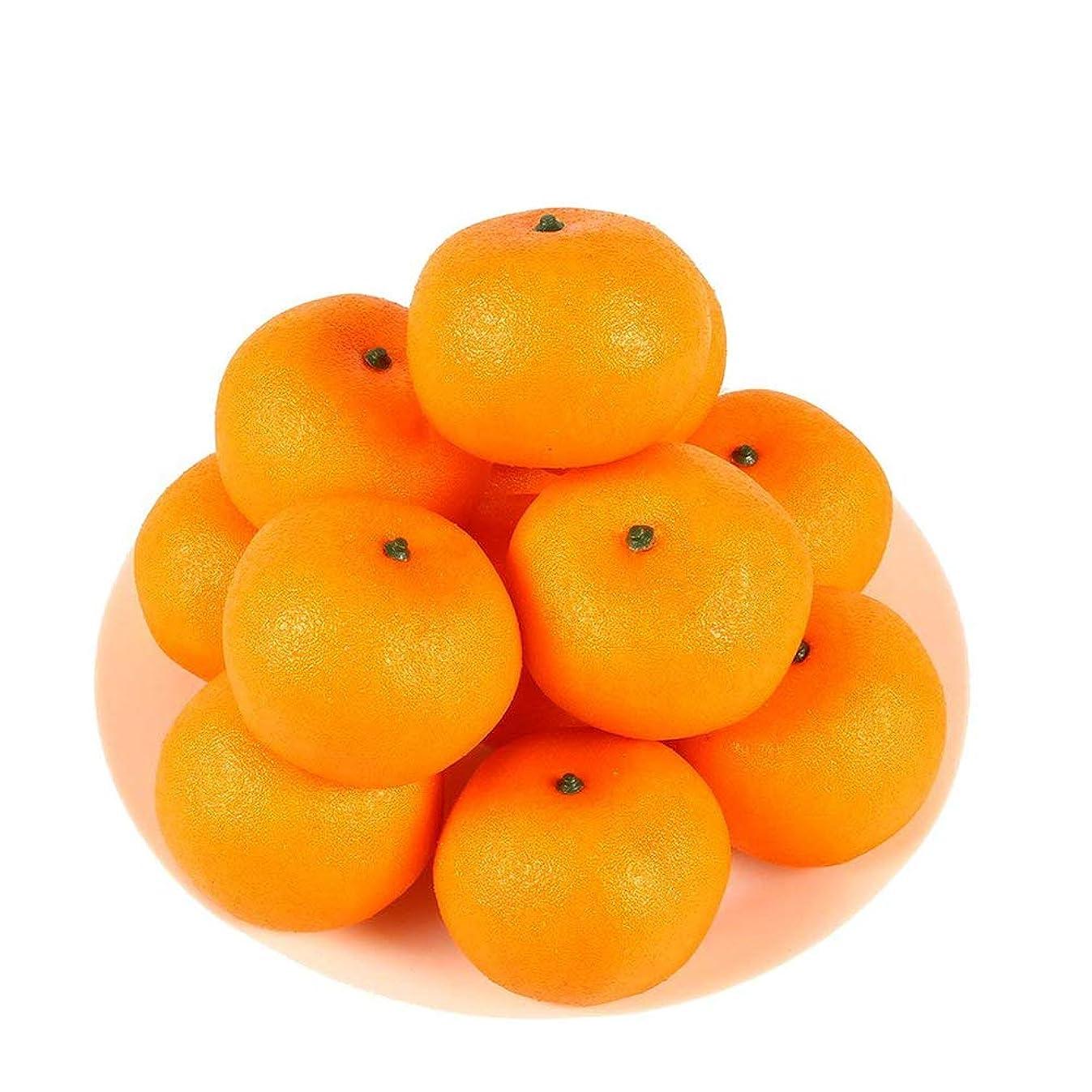 HAKSEN 12 PCS Artificial Lifelike Simulation Oranges Fake Fruit Home Kitchen Cabinet Decoration