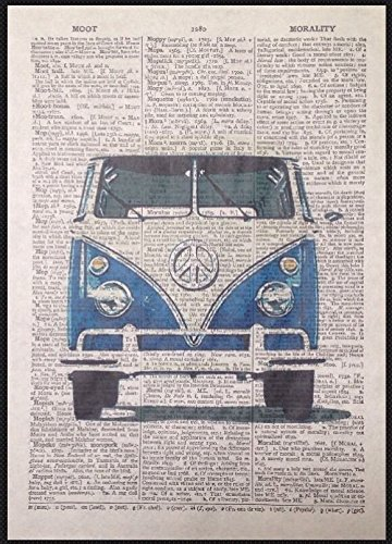 Parksmoonprints - Stampa da parete vintage con immagine di dizionario in stile retrò, motivo eccentrico e motivazionale