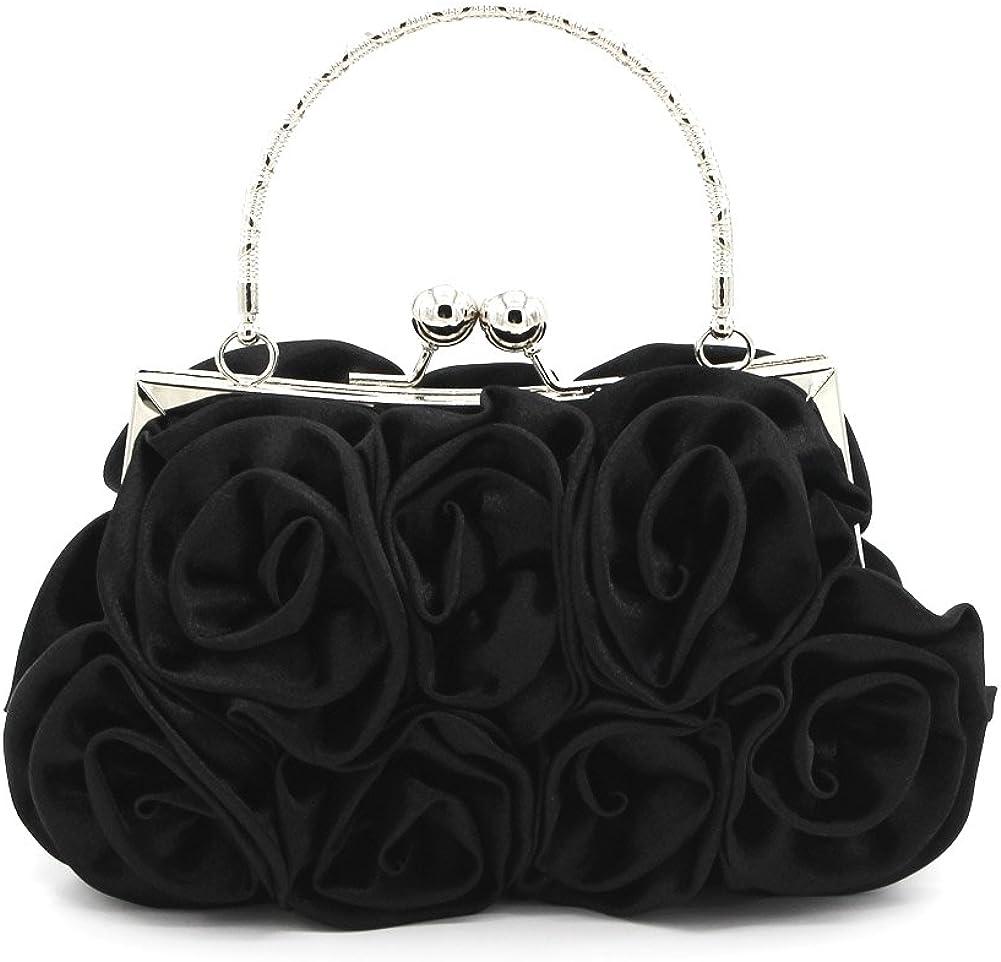 Women's Flower Satin Evening Bag Wedding Bags