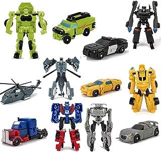 HAYUL 6 PCS Transformer Toy,Car Robot Toys, Mini Action Figure, Deformation Robot for Kids Boys 3~12