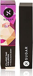 SUGAR Cosmetics It's A-Pout Time! Vivid Lipstick 01 The Big Bang Berry (Wine), 3.5 g