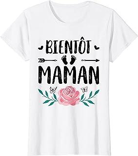 Femme Maman 2021 Id/ée Cadeau Maman Humour Femme Enceinte Grossesse T-Shirt