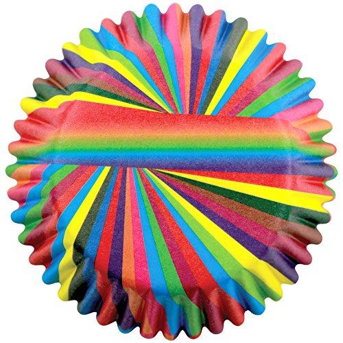 PME - Caissettes à Cupcakes en Papier à Folles Rayures, Dimensions Standard, Lot de 60