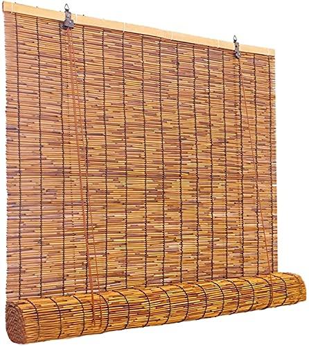 Estor Exterior,Persiana Bambu Exterior Natural,persianas de Paja,Estores de Bambú,Estores Enrollables Romanas,Persianas A Prueba De Polvo,Sunshade Partition Curtain(Size: 60x130cm/24x51in)