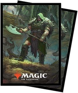 MTG Throne of Eldraine V3 Garruk Cursed Huntsman Ultra Pro 100ct Printed Art Card Sleeves Magic The Gathering Deck Protectors