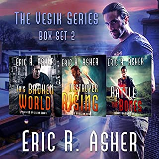 The Vesik Series: Books 4-6     Vesik Series Boxset, Book 2              By:                                                                                                                                 Eric Asher                               Narrated by:                                                                                                                                 William Dufris                      Length: 28 hrs and 30 mins     450 ratings     Overall 4.6