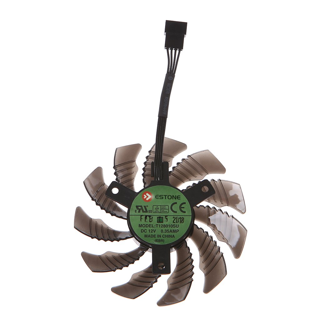 low-pricing BUZHI 12V Graphics Card 4Pin Cooling 10 Gigabyte security Fan GTX1050 for