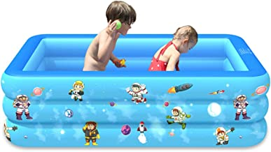[DHL 7-12Days Delivery] Family Inflatable Swimming Pool, Multiple Pattern Options, Lounge Pool for Kids, Toddlers for Ages 3+, Outdoor, Garden, Backyard, Summer Water Party Blow up Pool (E)