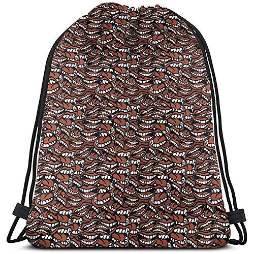 MOTALIN Bolsas de hombro escolares unisex,bolsa de viaje con cordón Mochila de boca demasiado charlatán Bolsa de yoga para gimnasio deportivo