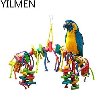 YILMEN Bird Knots Block Chewing Toys-Parrot Toys&Bird Toys (for Large Birds Macaw African Greys Parakeets Cockatiels Conures Medium Cockatoo)