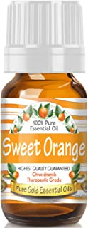 Pure Gold Sweet Orange Essential Oil, 100% Natural & Undiluted, 10ml