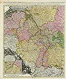 Historische Karte: Rheinlaufkarte - Theatrum Belli Rhenani 1690 (Plano) - Peter Schenk