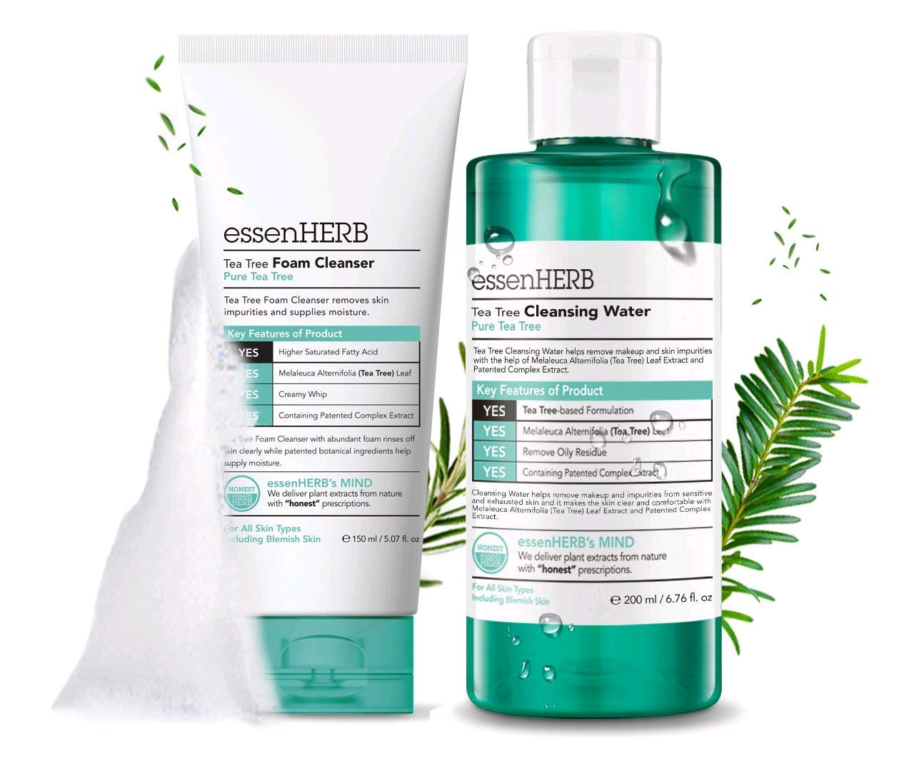 ESSENHERB Cleanser Soothing Cleansing Removal