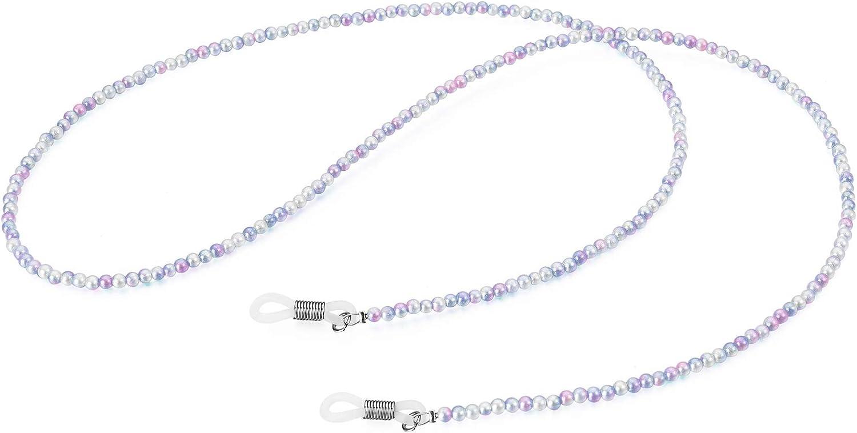 YIMAI Non-slip Hanging Neck Sunglasses Eyewear Strap Pink Purple Gradient Holder Reading Glasses Retainer Necklace Chain Cord for Women, Medium