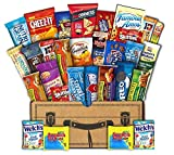 Mr. Snackbox Classic Crunch Case Care Package (30 Count) Variety Snack Gift Box  College Students, Military, Office or Home Candy, Cookies, Chips, Granola & More