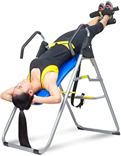 HYD-Parts Inversion Table Back Therapy Fitness Back Pain Relief, Adjustable Folding Therapy Back Inversion Table for Home Exercise