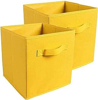 YUACY Boîtes de rangement pliables en tissu trapézoïdal pour vêtements, livres, jouets, penderie, étagères
